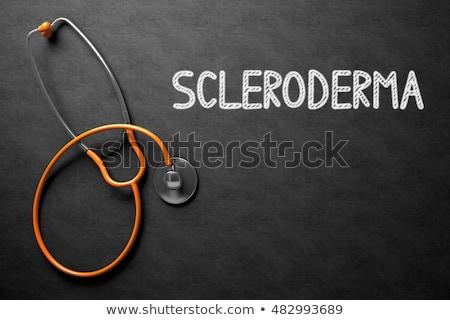 Scleroderma on Chalkboard. 3D Illustration. Stock photo © tashatuvango