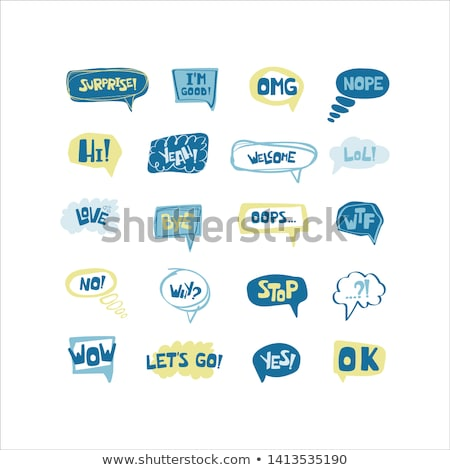 Oops! phrase in speech bubble. Comic text. Vector bubble icon sp Stock photo © pashabo