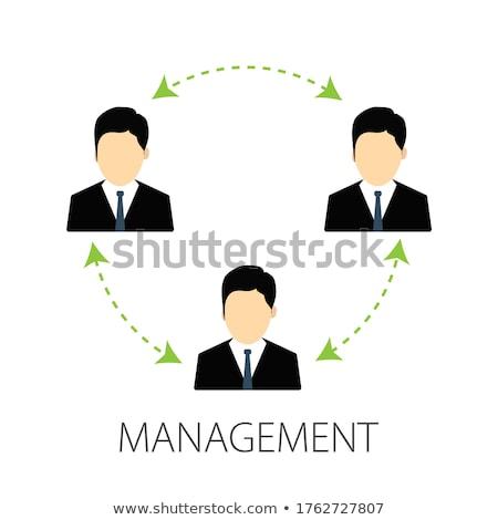 Performances gestion affaires illustration doodle vert Photo stock © tashatuvango