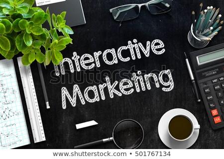 черный доске интерактивный маркетинга 3D Сток-фото © tashatuvango