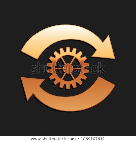Procede integratie gouden cog versnellingen mechanisme Stockfoto © tashatuvango