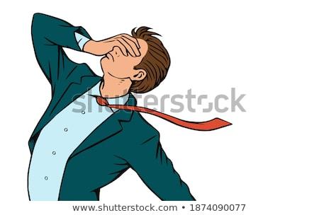 деловой · человек · вопросительный · знак · голову · нерешительность · eps10 · вектора - Сток-фото © rastudio