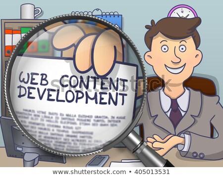 web development through lens doodle concept stock photo © tashatuvango
