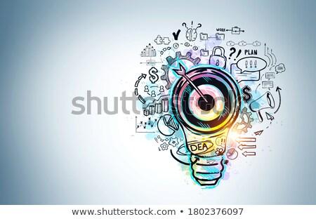 Financial Solutions Drawn on White Wall.  Stock photo © tashatuvango