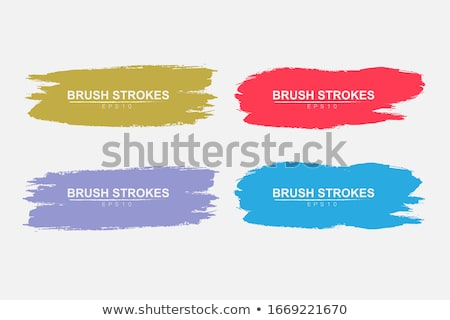 set of three watercolor stroke banner design Stock photo © SArts