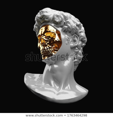 Golden scuplture of human - masterpiece Stock photo © konradbak