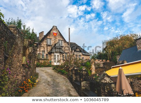 Old Stone Cottage in Dinan, Brittany France Stock photo © smartin69