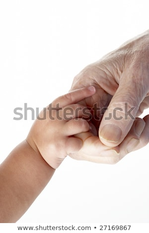 Baby holding grandfather\'s hand Stock photo © IS2
