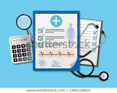 vriendelijk · arts · stethoscoop · bestand · kaukasisch · jonge - stockfoto © rastudio