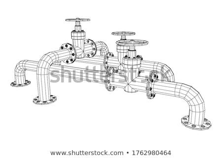 Plan azul vector arquitectónico ingeniería construcción Foto stock © biv