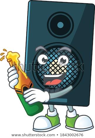 талисман бутылок звук иллюстрация группа счастливым Сток-фото © lenm