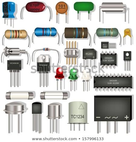 электронных компоненты ретро стилизованный бесшовный Сток-фото © tracer