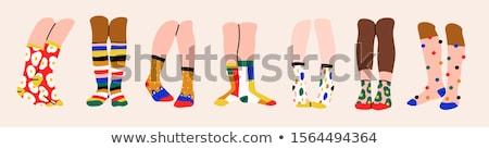 Ingesteld kleurrijk sokken kleding mode Stockfoto © popaukropa