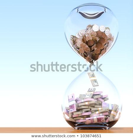 Euro tijd is geld klok euro symbool business Stockfoto © devon