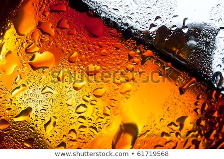 Water in misted glass and ice cubes stock photo © Cipariss