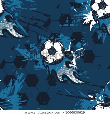 Abstract voetbal inkt splatter wereld achtergrond Stockfoto © SArts