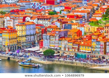Cidade velha Portugal ver pôr do sol construção rua Foto stock © joyr