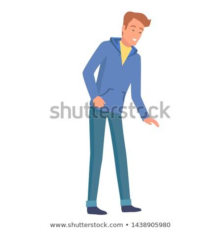 jeans · Blauw · zak · illustratie · vector · abstract - stockfoto © robuart