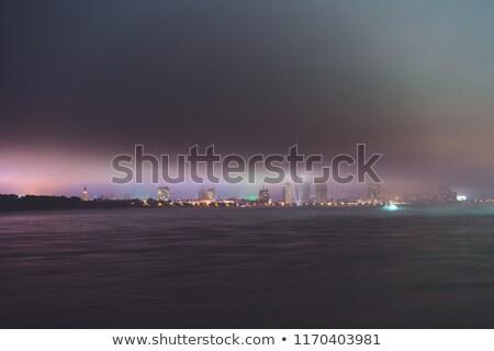 nebbia · fiume · mattina · panorama · nebbia · cupola - foto d'archivio © mikhailmishchenko