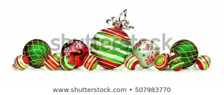 Glittery christmas decorations Stock photo © BarbaraNeveu