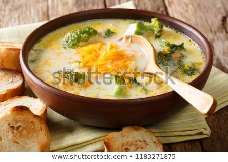 Stok fotoğraf: Peynir · çorba · mantar · taze · arka · plan