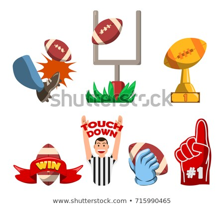 American Football Winning Fancy Badge Stock photo © superzizie