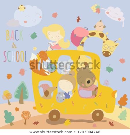 back to school postcard or flyer with schoolgirl stock photo © robuart