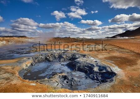 Domaine Islande paysage boue chaud tourisme Photo stock © Kotenko
