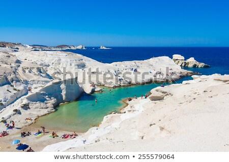tenger · tájkép · fehér · ásvány · sziget · Görögország - stock fotó © taviphoto
