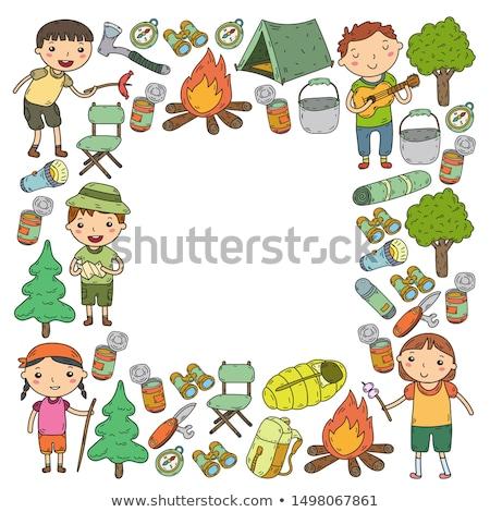 子供 少年 スカウト 森林 歌 実例 ストックフォト © lenm