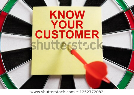 Dart On Adhesive Note With Know Your Customer Text Stock photo © AndreyPopov
