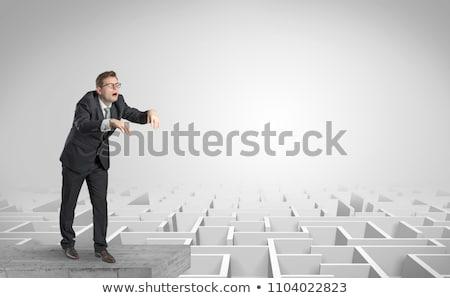 Zumbi empresário branco ilustração homem fundo Foto stock © bluering