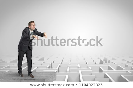 зомби бизнесмен белый иллюстрация человека фон Сток-фото © bluering