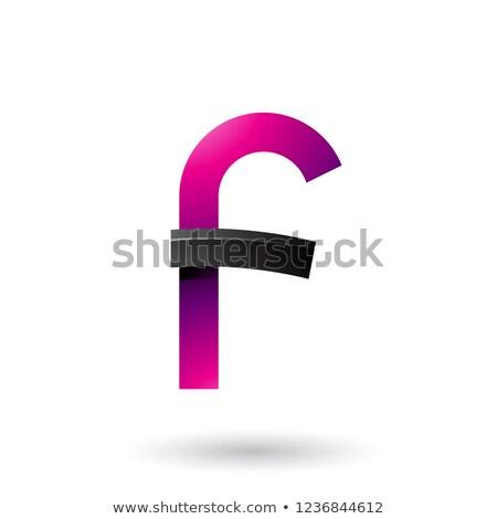 Preto magenta letra f vetor ilustração isolado Foto stock © cidepix