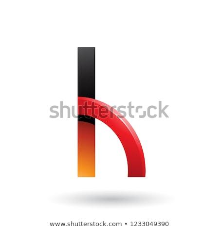 Turuncu kırmızı parlak çeyrek daire Stok fotoğraf © cidepix