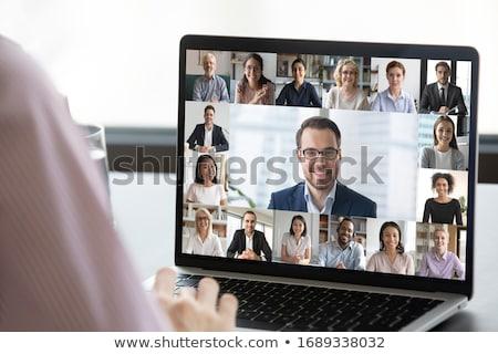 бизнесмен · рабочих · виртуальный · экране · деловые · люди · технологий - Сток-фото © dolgachov