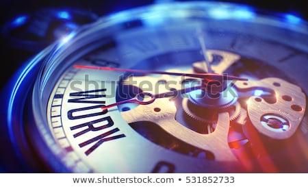 team work   wording on vintage pocket clock 3d stock photo © tashatuvango