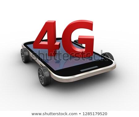 3d render 4g inteligente telefone móvel roda 3D Foto stock © nasirkhan