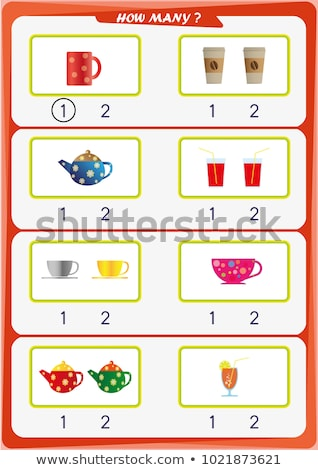 How to write number two worksheet Stock photo © colematt