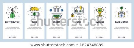 Przedsięwzięcie inwestycja app interfejs szablon fundusz Zdjęcia stock © RAStudio