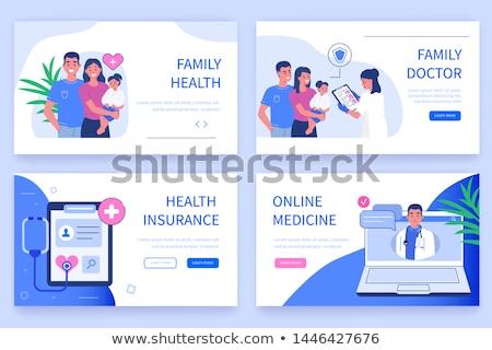 Isométrica vetor aterrissagem página modelo seguro de saúde Foto stock © TarikVision