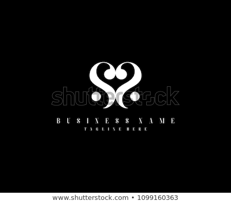 手紙 · 中心 · ロゴ · アイコン · デザインテンプレート · 輪郭 - ストックフォト © blaskorizov