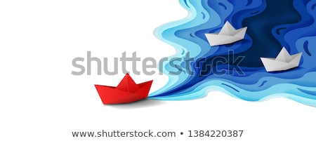 papel · barco · ilustración · ninos · toma · viaje - foto stock © colematt