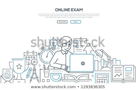online exam   modern line design style illustration stock photo © decorwithme