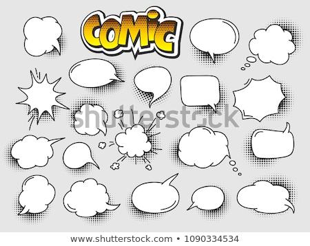 Chatting Box Bubble Empty Icon Vector Illustration Stock photo © robuart
