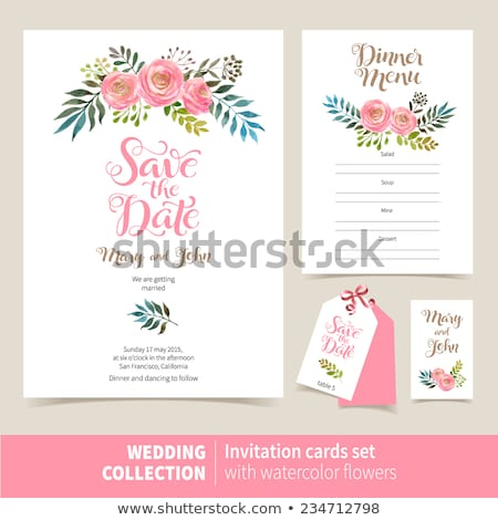 Tipografía invitación de la boda vector blanco grande números Foto stock © orson