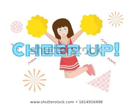 Palavra alegrar para cima ilustração sorrir criança Foto stock © colematt