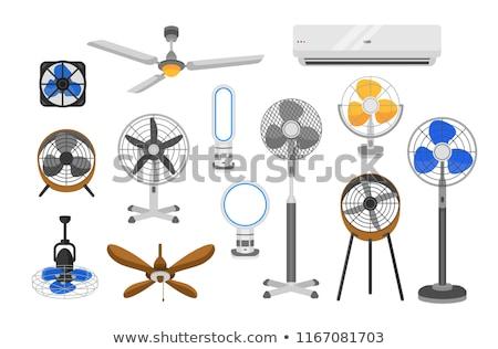 Vektör ayarlamak fan adam dizayn sanat Stok fotoğraf © olllikeballoon