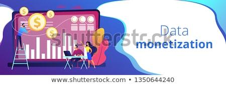 Data monetization concept banner header. Stock photo © RAStudio