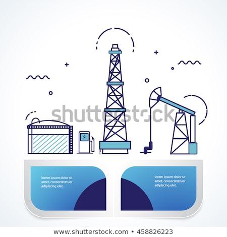 Nucleaire energie landing pagina ingenieurs werken Stockfoto © RAStudio